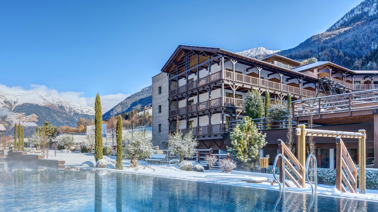 Piscina Spa Benessere Andreus Resorts Merano inverno