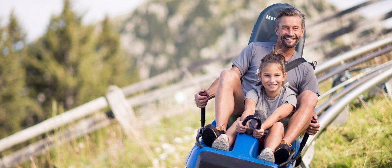 Offerta Benesere Family Weeks in Alto Adige - Slittino estivo padre e figlia