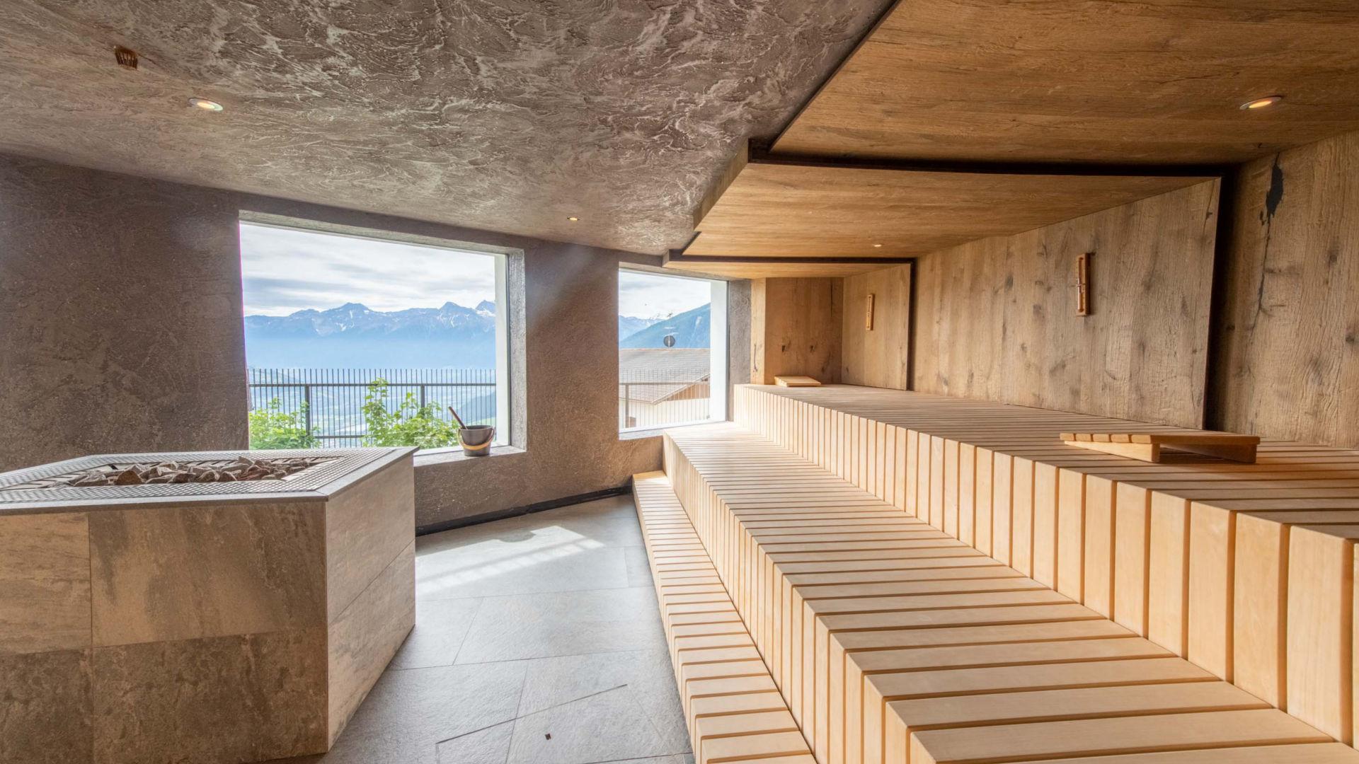 Sauna Panoramica nell'Hotel Benessere Watles in Alto Adige
