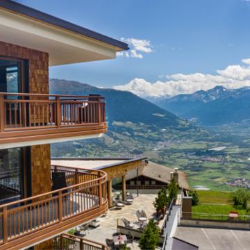 Hotel Benessere Watles - Panorama sulla Val Venosta